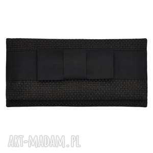 03-0004 szaro-brązowa torebka kopertówka wieczorowa do ręki crow