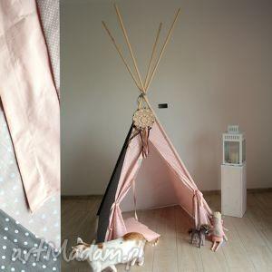teepee różowe serca - namiot do domu lub ogrodu, tipi, zabawka, edukacyjna, prezent