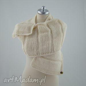 ręczne wykonanie szaliki szal kremowy