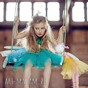 morskozielona sukienka tiulowa tutu, balet, balerina, paczka, taniec