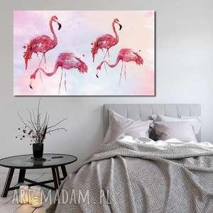 obraz xxl flaming 3 - 120x70cm na płótnie flamingi, ptaki