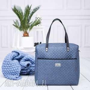 torebka shopperka 812, shopperka, duża, torba, pojemna, jeansowa, rękodzieło