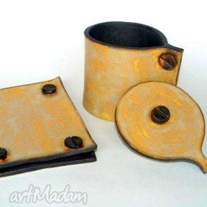 Mydelniczka i pojemnik na sól ceramika pracownia ako łazienka