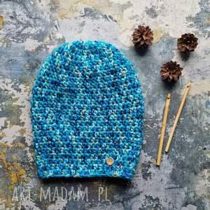 handmade czapki czapka włóczka kolrowa unisex