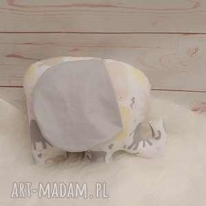 handmade zabawki słoń z szeleszczącymi uszami