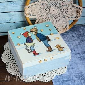 pudełko drewniane - all i want for christmas is you na święta chcę tylko
