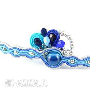 Delikatna niebieska bransoletka sutaszowa - Hand Made