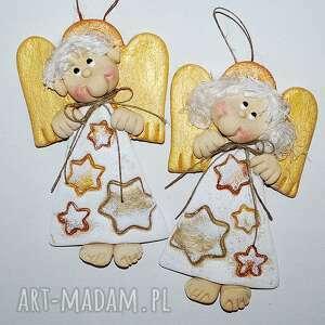 gwiezdny pył - aniołki z masy solnej, aniołki, masa solna, prezent, dekoracja
