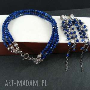 Lapis lazuli onyksela lapis, lazuli, trzyrzędowa