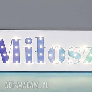 handmade pokoik dziecka neon obraz led z imieniem ombre personalizowany napis lampa