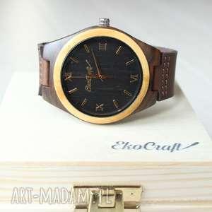 ręcznie wykonane zegarki drewniany zegarek toucan