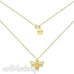 handmade naszyjniki złoty naszyjnik z pszczółką
