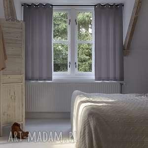 zasłona zara grey, zasłona, zasłonka, kółka, naturalna, bawełna dekoracje