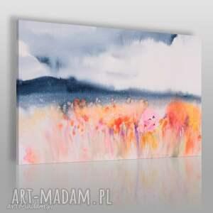 obraz na płótnie - pole kwiaty abstrakcja 120x80 cm 79001, pole, kwiaty, rośliny