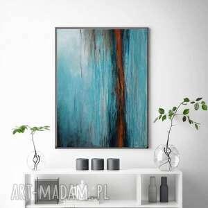 abstrakcja-obraz akrylowy formatu 50/70 cm, abstrakcja, akryl, płótno, obraz