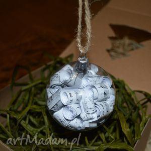 pomysł na prezent świąteczny Bombki choinkowe szklane - Boże Narodzenie 8cm, bombki