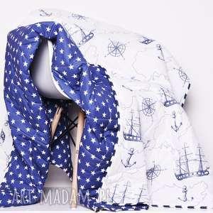 koce i narzuty narzuta sea map 155x205cm, narzuta, marynistyczna, marynarska