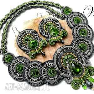 wdart komplet sutasz stalowo zielony, sutasz, komplet, elegancki, wizytowy
