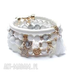 marble /white/ 02-01-19/, jadeit, howlit, rzemień, swarovski, cyrkonie, chwost
