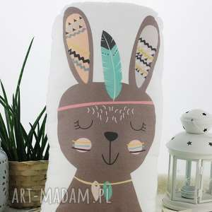 ręcznie wykonane pokoik dziecka poduszka przytulanka, indiański króliczek