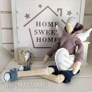 hand-made lalki anioł tilda lalka na chrzest święty