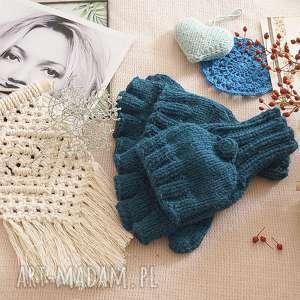 hand-made rękawiczki bezpalczatki z klapką #16