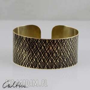 kora 2 - mosiężna bransoletka, bransoleta, szeroka, mosiężna, złota