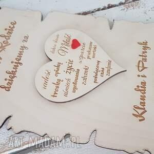 ślub podziękowania dla rodziców rodzicom prezent ślubne papirus drewno