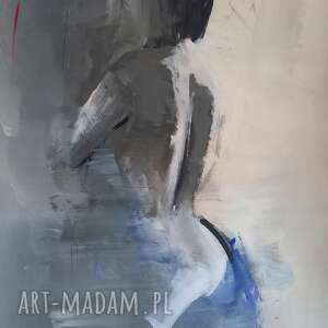 Blue 100x70 dom galeria alina louka obraz do salonu, kobieta