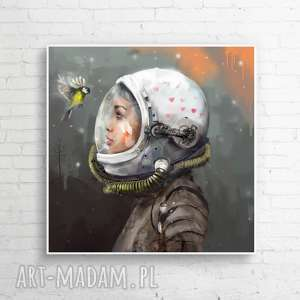 """Obraz na płótnie """"uniwersum"""" 100x100 cm krzanooart kosmos"""