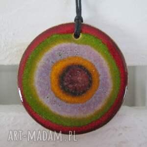 wisiorki kolorowy wisiorek ceramiczny, wisiorek, ceramiczny wisior