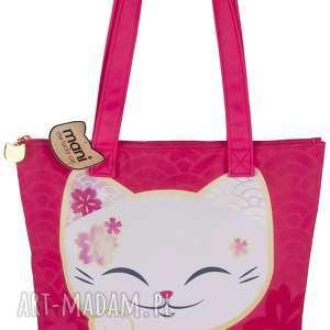 torebka mani lucky cats czerwona - kimmidoll, torebki, prezent, zakupy, plaza