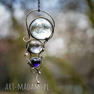 hand-made naszyjniki trio - naszyjnik w stylu boho ze szkłem