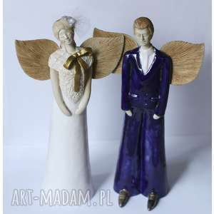 hand-made ceramika ślubna para stojąca