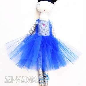 lila blue tańczy rafineria cukru, lalka, szmacianka, eko, bawełna, baletnica