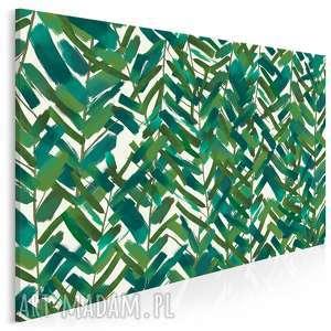 Obraz na płótnie - LIŚCIE ZIELONY NATURA 120x80 cm (91001), liście, natura, liść