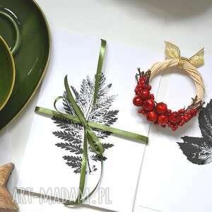 hand-made dekoracje 6 x print roślinny