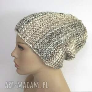 czapki czapka typu beanie w beżach, czapka, beanie, beżowy, brązowy