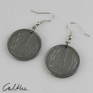 caltha złotówki - kolczyki #, kolczyki, klipsy, recykling, monety