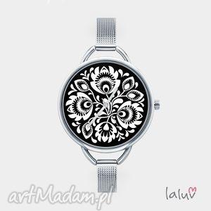 Prezent Zegarek z grafiką LOVE FOLK, folk, etniczne, wycinanka, ludowe, ludowy