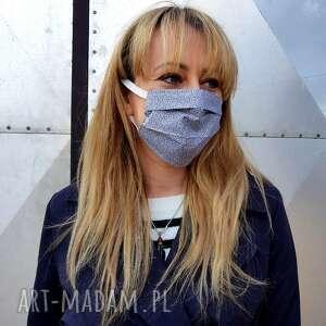 neutralna maseczka ochronna do twarzy bawełniana męska unisex maska kosmetyczna