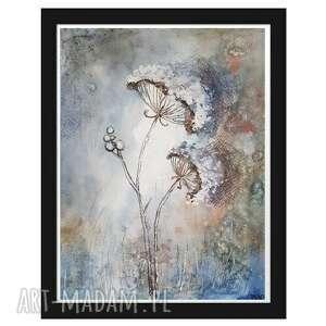 paulina lebida jesienne trawki-akwarela formatu 18/24 cm, akwarela, jesień