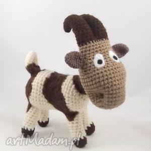 łaciata kózka - na zamówienie dla p jaśka, koza, kózka, maskotka, niebanalna