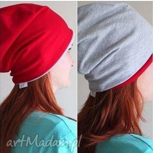 czapka 2 w 1 dresowa dwustronna dwukolorowa beanie, czapka, dreoswa