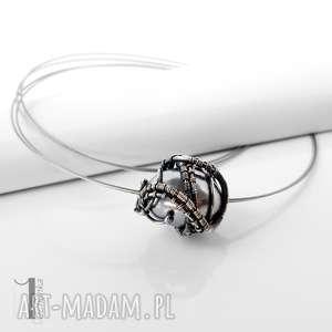 graphite iv srebrny naszyjnik z perłą majorka, naszyjnik, srebrny, perła