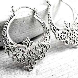 925 srebrne kolczyki karma ii - orientalne, kobiece, srebro