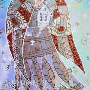 Anioł opiekun domu marina czajkowska anioł, dom, obraz