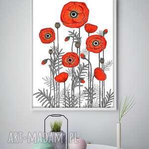 Maki A1, maki, mak, kwiaty, kwiatki, plakat, obraz