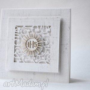 handmade scrapbooking kartki komunia - zaproszenie - 15 sztuk