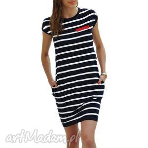 Tunika w marynarskie paski tuniki knitcat sukienka, tunika